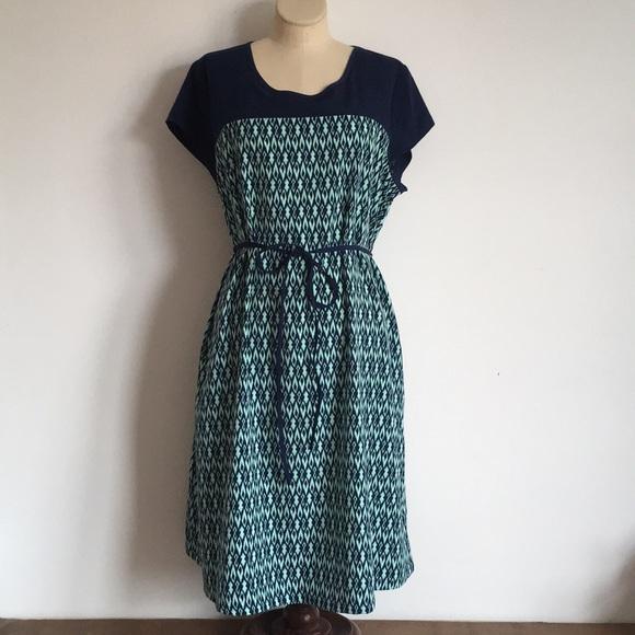 2d6e00f2e8d69 Liz Lange for Target Dresses & Skirts - Navy and aqua maternity dress -  Size M